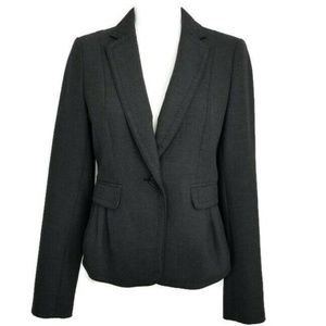 Loft Gray Blazer Size 2 Fitted Soft Material